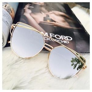 Accessories - Cat Eye Gold Aviator Sunglasses